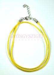 Textil nyakláncalap - sárga - delfinkapoccsal - 45 cm