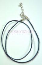 Textil nyakláncalap - sötétkék - delfinkapoccsal - 45 cm