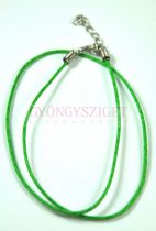 Textil nyakláncalap - zöld - delfinkapoccsal - 45 cm
