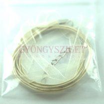 Textil / Organza nyakláncalap - bézs - delfinkapoccsal - 43 cm