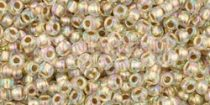 Toho kásagyöngy - 994 - arany közepű szivárvány kristály - 11/0