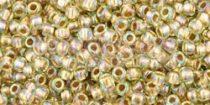 Toho kásagyöngy - 998 - Gold-Lined Rainbow Lt Jonquil - 11/0