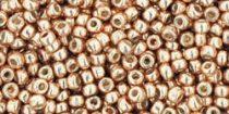 Toho kásagyöngy - pf551 - galvanizált rose gold tartós bevonattal - 11/0