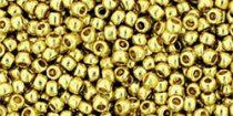 Toho kásagyöngy - 559pf - tartós galvanizált halvány sárga arany - 11/0