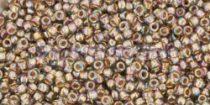 Toho kásagyöngy - 999 - Gold-Lined Rainbow Black Diamond - 15/0