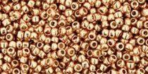 Toho kásagyöngy - pf551 - tartós galvanizált rose gold - 15/0