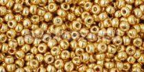 Toho kásagyöngy - pf557 - tartós galvanizált arany - 15/0