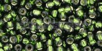 Toho kásagyöngy - 37 - ezüst közepű oliva - 6/0