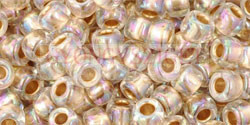 Toho kásagyöngy - 994 - Gold Lined Rainbow Crystal - 6/0