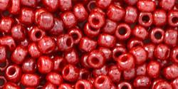 Toho kásagyöngy - 125 - Opaque Cherry Luster - 8/0