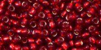 Toho kásagyöngy - 25c - Silver Lined Ruby - 8/0