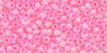 Toho kásagyöngy - 987 - balerina pink közepű  kristály - 8/0
