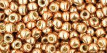 Toho kásagyöngy - pf551 - galvanizált rose gold tartós bevonattal - 8/0