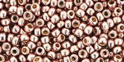 Toho Round Japanese Seed Bead  -  pf552  -  Galvanized Sweet Blush Permanent Finish  -  size: 8/0