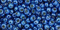 Toho kásagyöngy - pf586 - PermaFinish - Galvanized Denim Blue - 8/0