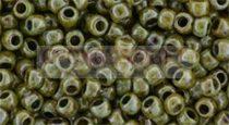 Toho kásagyöngy - y182 - HYBRID Opaque Luster - Transparent Green - 8/0