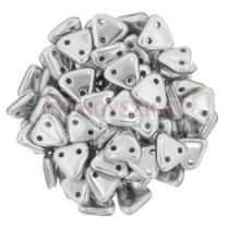 CzechMates 2 Hole Triangle Czech Glass Bead - Aluminium - 6mm