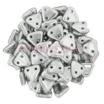Cseh kétlyukú háromszög gyöngy - Aluminium - 6mm