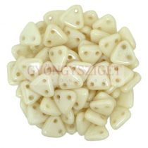 CzechMates 2 Hole Triangle Czech Glass Bead - Telt ivory -6mm