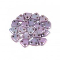 Cseh kétlyukú háromszög gyöngy - Opaque Alabaster Purple -6mm