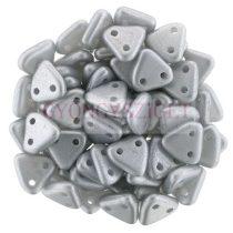CzechMates 2 Hole Triangle Czech Glass Bead -  metál polichrome ezüst -6mm