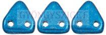 Cseh kétlyukú háromszög gyöngy - Saturated Metallic Nebulas Blue - 6mm