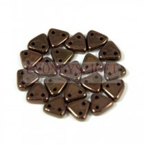 CzechMates 2 Hole Triangle Czech Glass Bead - Purple Bronze -6mm
