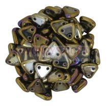 Cseh kétlyukú háromszög gyöngy - Brown Iris -6mm