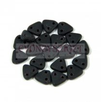 CzechMates 2 Hole Triangle Czech Glass Bead - Matte Jet -6mm