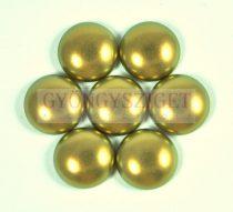 Tekla üveg kaboson - pastel khaki golden shine - 14mm