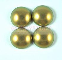 Tekla üveg kaboson - pastel khaki golden shine - 18mm