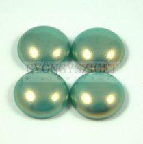 Tekla üveg kaboson - turquoise golden shine- 14mm