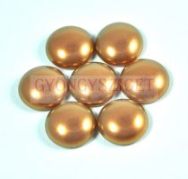 Tekla üveg kaboson - powder golden shine - 14mm