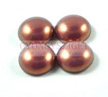 Tekla üveg kaboson - pink golden shine- 12mm