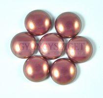 Tekla üveg kaboson - pink golden shine - 14mm