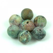 African Turquoise - matte -  round bead 6mm