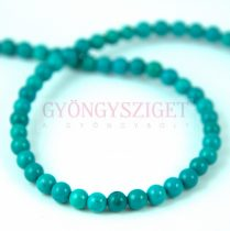 Reconstructed Turquoise round bead - 4mm - strand