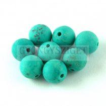 Turquoise - round bead - matt - 8mm
