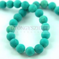 Turquoise - round bead - matt - 8mm (appr. 44 pcs/strand)