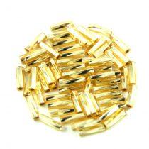 Miyuki csavart szalmagyöngy - 3 - Silver Lined Gold - 6mm