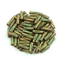 Miyuki csavart szalmagyöngy - 2035 - Matte Metallic Khaki Iris - 6mm