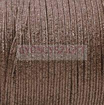 Amerikai Sujtás zsinór - Textured Metallic Gunmetal - 3mm