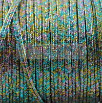 Amerikai Sujtás zsinór - Textured Metallic Rainbow - 3mm