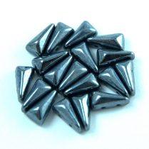 Vexolo cseh préselt 2lyukú gyöngy – Hematit - 5x8mm