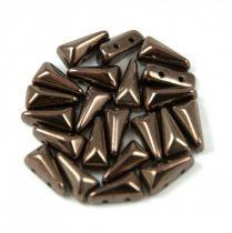 Vexolo cseh préselt 2lyukú gyöngy – Bronz - 5x8mm