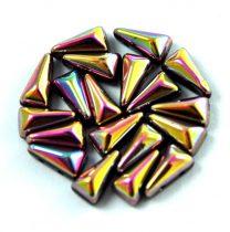 Vexolo cseh préselt 2lyukú gyöngy - Jet Pink Gold - 5x8mm