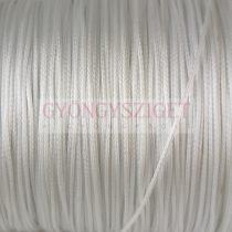 Viaszolt textilszál - fehér - 0.5mm