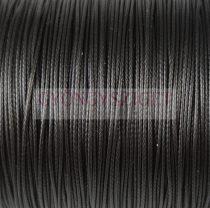 Viaszolt textilszál - fekete - 0.5mm