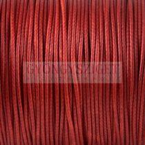Viaszolt textilszál - Red - 1mm