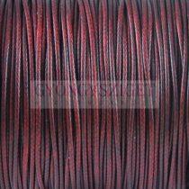 Viaszolt textilszál - Red Wine - 1mm